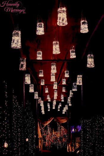 Hanging Fairy Lights in Bottle Decor