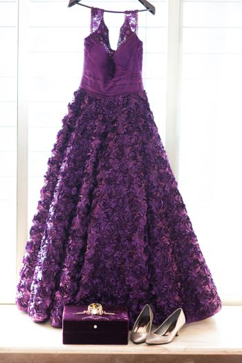 Photo of Purple Flared Cocktail Gown