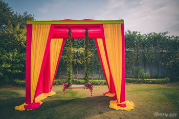 Red and Yellow Tent with Jhoola
