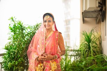 Photo of Sikh Bride Portrait - Pastel Pink Lehenga