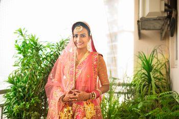 Sikh Bride Portrait - Pastel Pink Lehenga