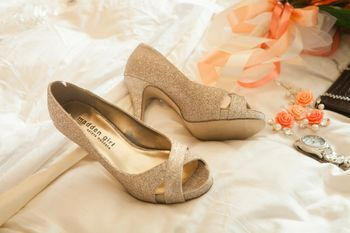 Photo of Gold Shimmer Peep Toes