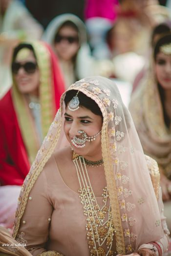 Smiling Sikh Bride Shot