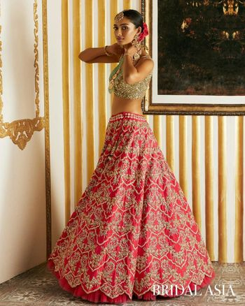 Red Bridal Lehenga Photo bridal lehenga