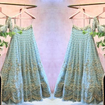 Bridal Lehenga Photo lehenga on hanger