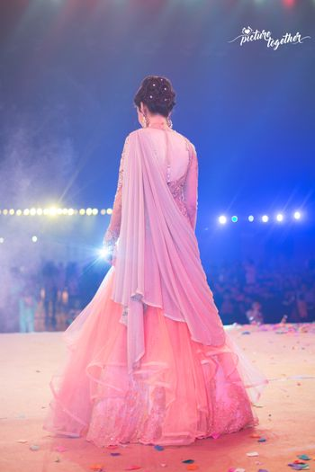 Pastel Pink Flared Frock Gown