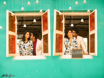 Photo of window pre wedding shoot
