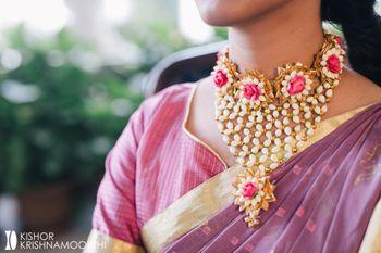 Mehendi jewellery gota choker necklace