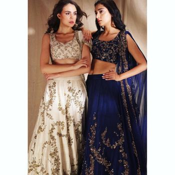 Navy Blue Bridal Lehenga Photo bridal lehenga