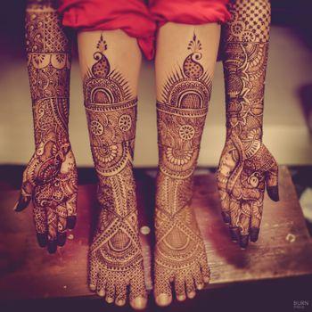 Bridal Hand and Feet Mehendi Traditional Design