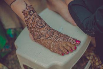 Bridal Feet Mehendi Design - Royal Design