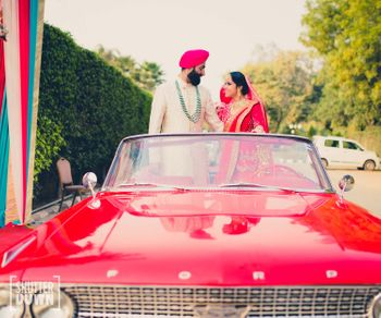 Sikh Couple Shot in a Car
