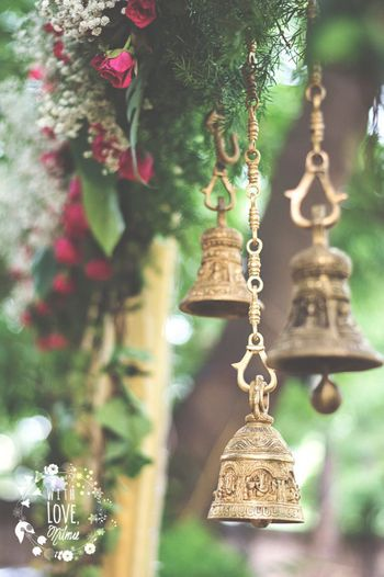 Gold Hanging Bells Decor