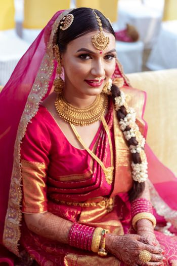 Photo of Beautiful shot of a South Indian bride from her wedding day.