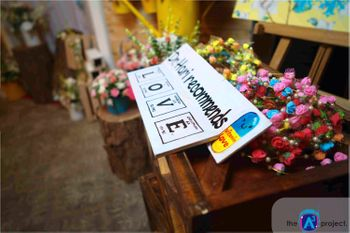 Fun Personalised Placard with Floral Arrangement