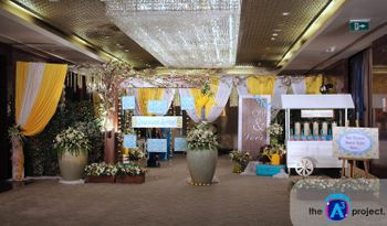 Cute Wedding Decor in Yellow White and Blue
