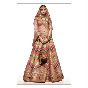 Photo of The Glamorous Bohemian Modern Bridal Lehenga.