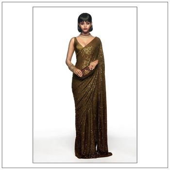 Photo of A Stunning Modern Reception Saree.