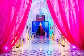 entrance decor with drapes and props moroccan theme decor