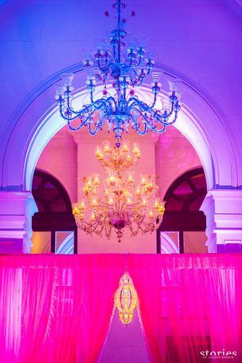 Photo of glamorous chandelier