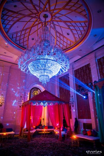 Photo of Moroccan theme decor for sangeet or mehendi
