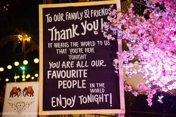 Personalised Thank You Message Board with Pink Flowers