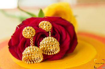 Circular Gold Traditional Jhumkis