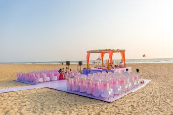Mandap Decor for Intimate Beach Wedding in Goa