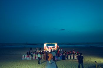 Intimate Beach Wedding Mandap in Goa