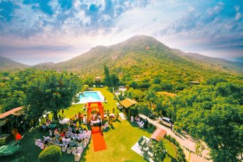 View of Hillside Destination Wedding