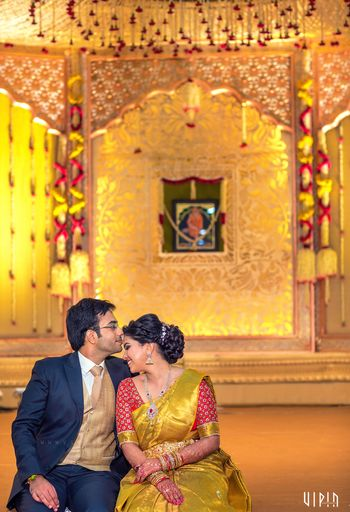 Yellow and Red Floral Decor for South Indian Wedding