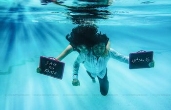Underwater Couple Shoot Save the Date Idea