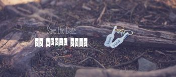 save the date shot with engagement rings