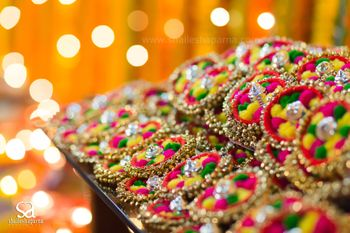 Ghungroo Kada Favours for Mehendi with Pompoms