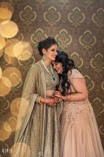 Grey engagement sabyasachi lehenga