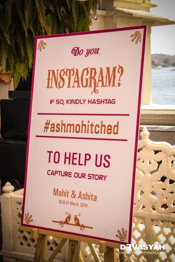 Personalised Message Board with Instagram Hashtag