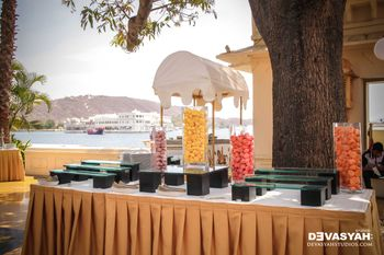 Table Decor with Fruits in Jars
