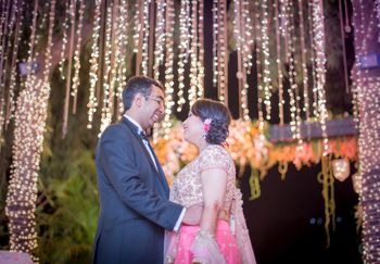 Night Reception Decor with Fairy Lights on Trees