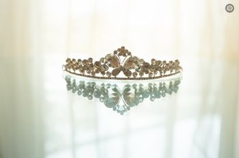 Floral and Butterfly Tiara with Stone Work