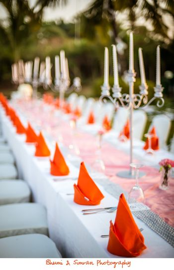 Table centerpieces as candelabras