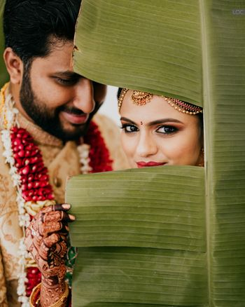wedding day south indian couple shot