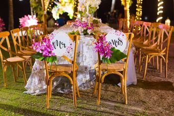 dedicated mr and mrs chairs