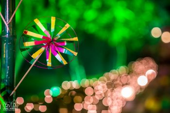 Paper Decor Pinwheel for Mehendi Decor
