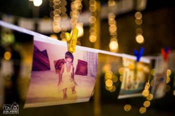Baby Photo Display on String with Clips
