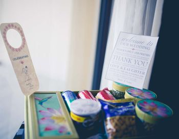 Photo of Welcome Hamper for Destination Wedding with Note