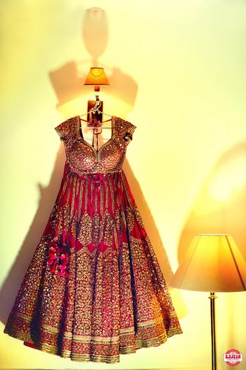 Marsala Bridal Anarkali on Hanger