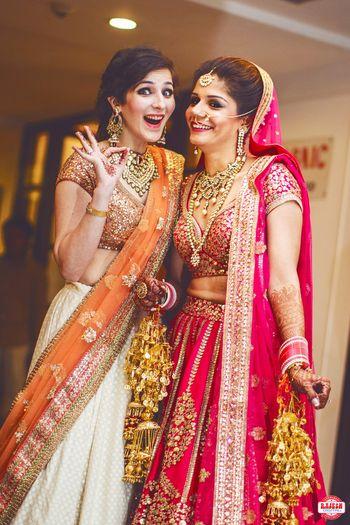 Bride with Sister Fun Photo