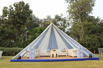 nice simple tent decor for the mehendi