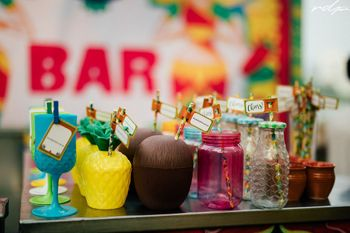 Quirky ideas for serving drinks at weddings.