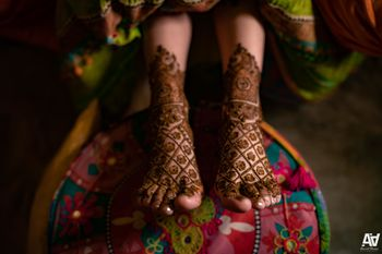 Bridal feet mehndi design